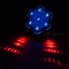 Plum Blossom geformt 7-Mode Blue LED Schwanz Lampe mit Red Laser für Bike