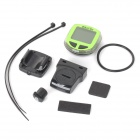 "Bikevee B10017 multifunctionele 1.5"" Display Stopwatch voor fiets - groen (1 x CR2032)"