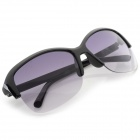 Stylish Semi-frame UV400 Lens Sunglasses - Black