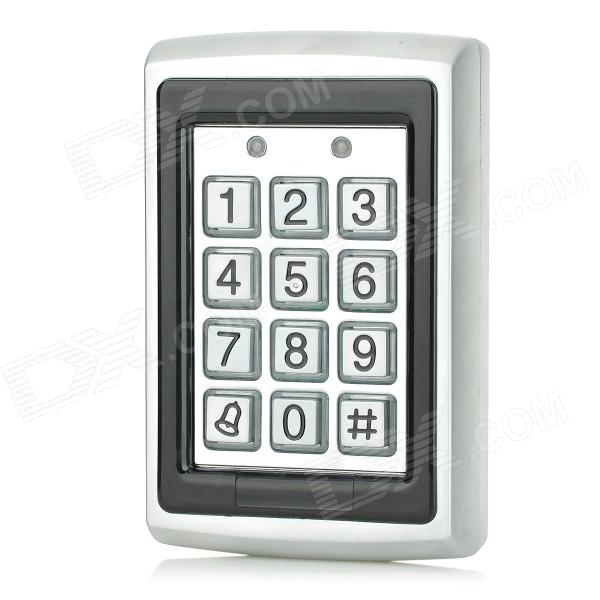 ST200 Waterproof Single Door Access Controller w/ Electric Lock + Door Exit Button - Silver