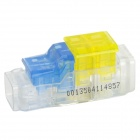 910016-2 gratuito Skinned Electric Wire Cable Quick Joint / Conector - amarillo + azul transparente +