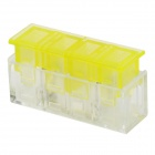 910012-1 1-to-1 Electric Wire Cable Quick Joint / Connector - Yellow + Transparent