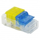 910020-3 3-to-3 Free Skinned Electric Wire Quick Joint / Connector - Blue + Yellow + Transparent