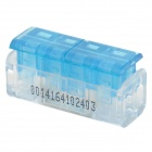 910001-2 2-zu-2-Electric Wire Kabel Kurz Joint / Stecker - Blau + Transparent