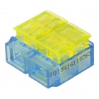 910017-4 2-to-2 Free Skinned Electric Wire Cable Connector - Blue + Yellow