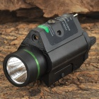 M07G 5mW Fast Strobe Green Laser Gun Sight w/ Mount + LED Flashlight - Black (2 x CR123A)