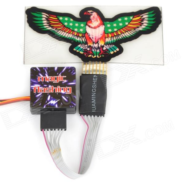 Eagle Style Tail Window Sticker Strobe Light for 1/10 R/C Model Car - Black + Red (3.7V) green glade 1099