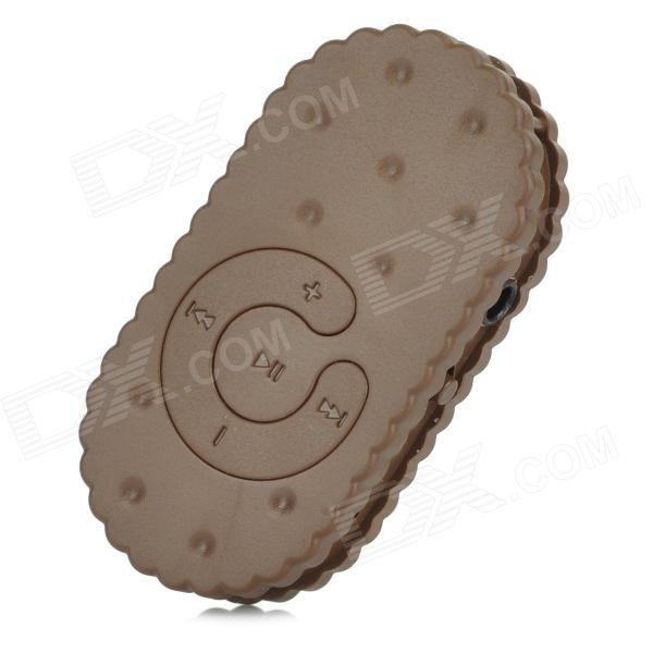 S-What Biscuit Shaped 3.5mm MP3 Player w/ TF - Brown
