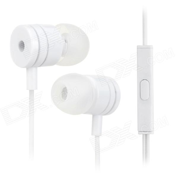 S-What 3.5mm In-Ear Stereo Earphone w/ Microphone - White (118cm)