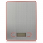 1.7'' LCD Screen Display Electronic Household Kitchen Scale - Sliver + Red (2 x AAA)