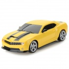 1:22 G-sensor Drift R/C Sports Car Toy w/ Steering Wheel - Yellow