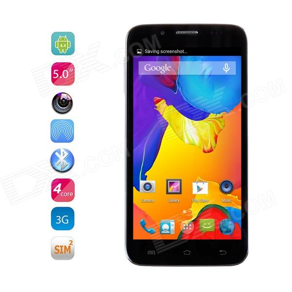 "CATEE CT400 MTK6582 Quad Core Android 4.2 WCDMA telefonen med 5"" IPS Gorilla Glass, 4GB ROM, 5MP - svart"