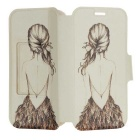 Kinston Sexy Back Pattern PU Leather Case Cover w/ Stand / Card Slot for Samsung Galaxy S4 i9500