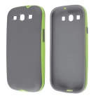Fashionable Plastic + TPU Neo Hybird Case for Samsung Galaxy S3 i9300 - Green + Grey