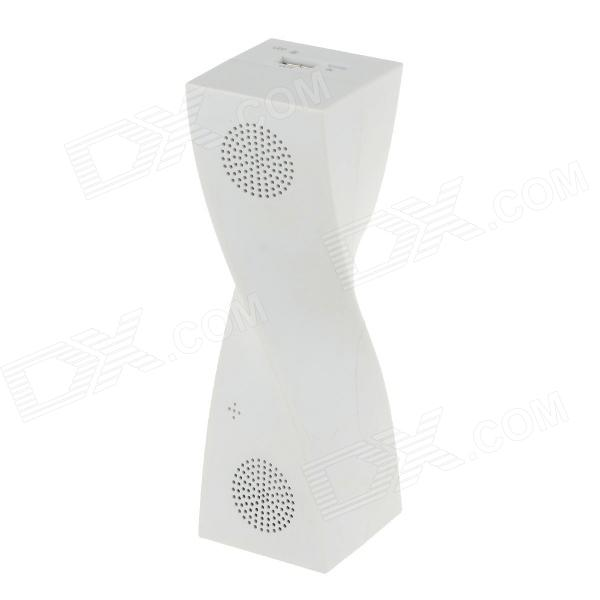 Multifunctional Bluetooth V2.1 Speaker w/ Microphone / Hands-free Talk / TF - White футболка рингер printio winter is coming