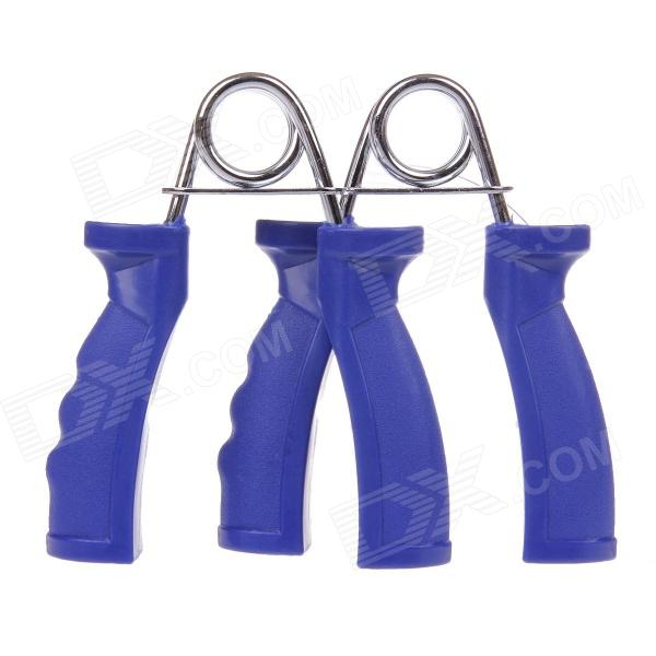 D1063C Exercise Fitness Hand Grip / Wrist Developer - Blue + Silver (Pair) effects of khat catha edulis exercise