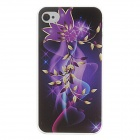 Kinston Protective Hard Case for IPHONE 4 / 4S - Black + Purple