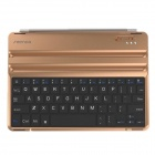 Ultra-Thin Aluminum Alloy Wireless Bluetooth V3.0 64-Key Keyboard for IPAD AIR - Golden