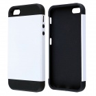 Fashionable PC and Silicone Slim Armor Back Case for IPHONE 5 / 5S - White + Black
