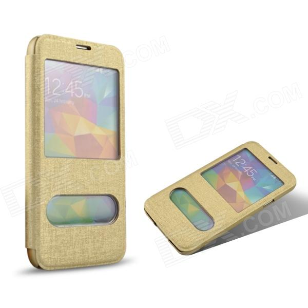 Angibabe Luxury Oracle Bone Style Protective PU Leather Case Cover for Samsung Galaxy S5 - Golden angibabe luxury oracle bone style protective pu leather case cover for samsung galaxy s5 golden