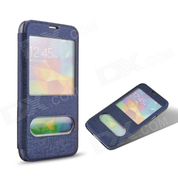 Angibabe Luxury Oracle Bone Style Protective PU Leather Case Cover for Samsung Galaxy S5 - Blue