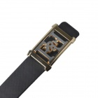 Universal Models Fashionable Casual PU Leather Wild Belt w/ Zinc Alloy Buckle - Black (110cm)