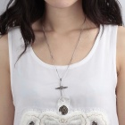 Stylish Fashion 316L Stainless Steel Anti-Allergic Cross Necklace for Women - Silver