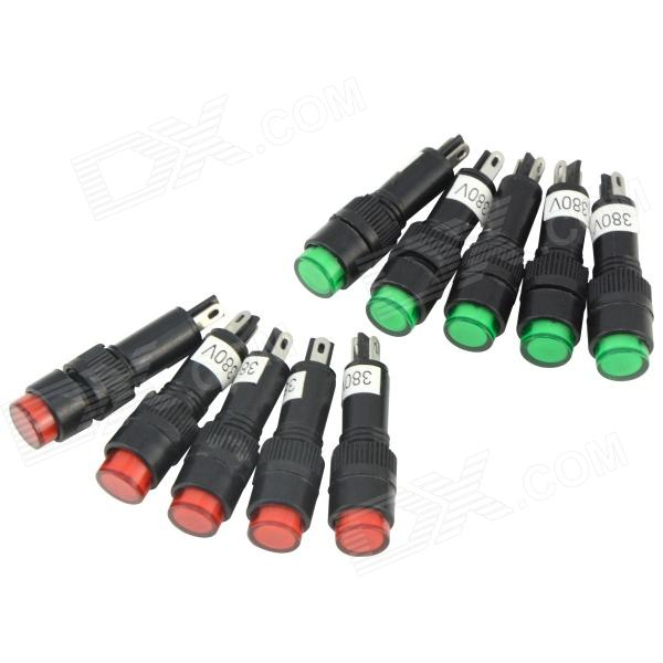 NXD-215 380V 3A 100mcd Signal Indicator Lamps (10 PCS)DIY Parts &amp; Components<br>ModelNXD-215Quantity10 DX.PCM.Model.AttributeModel.UnitForm  ColorOthers,Red + Green + BlackMaterialPlastic + electronics componentsEnglish Manual / SpecNoCertificationNOPacking List10 x Signal indicators<br>