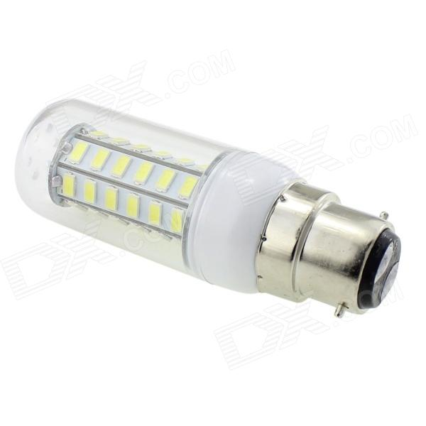 HONSCO B22 6W 350lm 6500K 48-SMD 5730 LED Cool White Light Corn Lamp - White + Silver (AC 220V)