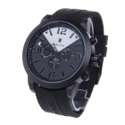 SPEATAK Men's Decorative 3-Dials Quartz Wrist Watch w/ Calender Display - Black