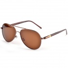 Aolong 209 Men's PC Lens UV400 Protection Polarized Sunglasses - Brown
