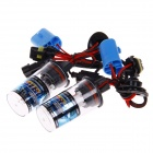 9007-2 35W 3200lm 12000K Blue Light Car HID Xenon Lamp Bulbs - Transparent + Black (Pair)