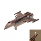 Creative Warplane Shaped Butane Jet Torch Lighter - Red Bronze