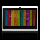 "7.0"" Quad-core A33 Android 4.4 Tablet PC w/ 4GB ROM, Bluetooth,TF, Dual-Camera  -White"