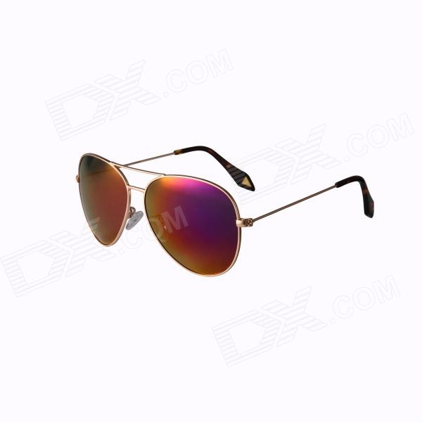 Reedoon 3025 Fashionable Resin Lens UV400 Protection Polarized Sunglasses - Golden + Pinkish Purple reedoon 6488 men s fashionable resin lens uv400 protection polarized sunglasses silver grey
