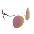 Reedoon 3025 Fashionable Resin Lens UV400 Protection Polarized Sunglasses - Golden + Pinkish Purple