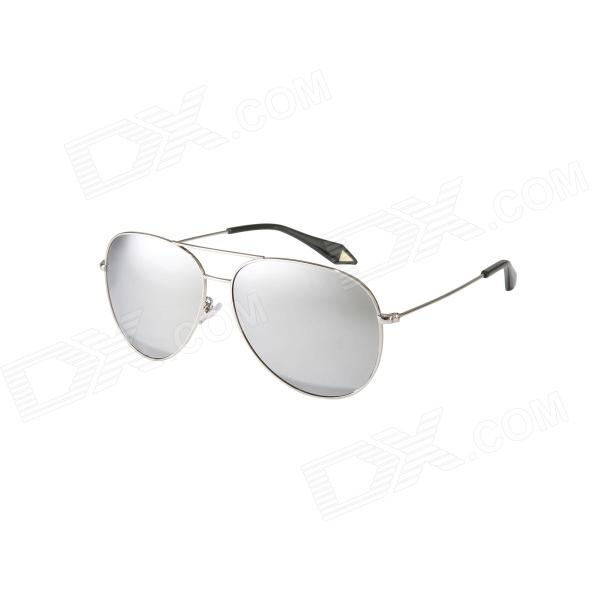 Reedoon Fashionable PC Frame Resin Lens UV400 Protection Polarized Sunglasses - Silver reedoon 6488 men s fashionable resin lens uv400 protection polarized sunglasses silver grey