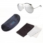 Reedoon Fashionable PC Frame Resin Lens UV400 Protection Polarized Sunglasses - Silver