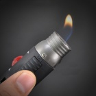 Zinc Alloy Windproof Straight Flame Butane Gas Lighter - Black