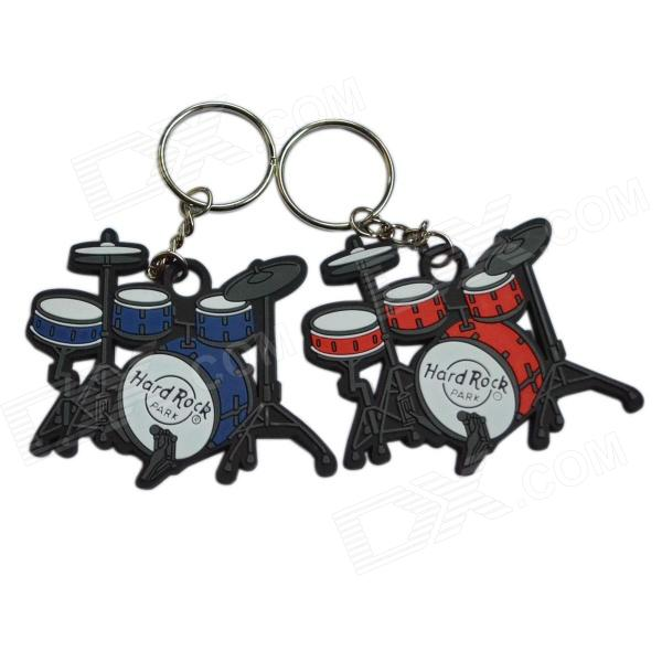 DEDO MG-57 Drum Styled PVC Key Chains - Blue + Black + White + Red (2 PCS)