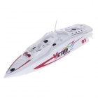 Mini haute puissance 2-CH 40MHz Radio Control R / C Racing Boat Sailing Model Toy - Blanc