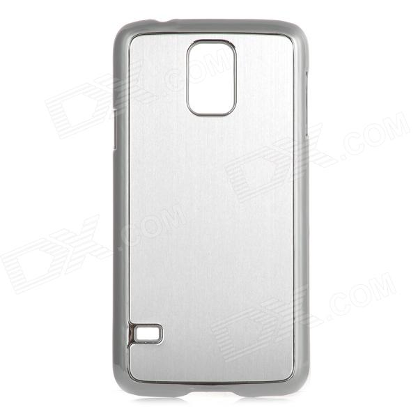 Stylish Brushed Metal Aluminum Back Case for Samsung Galaxy S5 - Silver 12x zoom camera lens telescope for samsung galaxy s5 silver