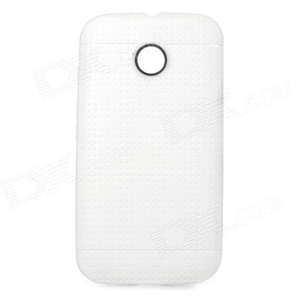 Protective TPU Back Case for Motorola Moto E - White