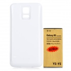 YI-YI 3.8V 6800mAh Li-ion Battery + ABS Back Case for Samsung galaxy S5 / G900 - White + Golden