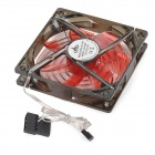12cm Mute Cooling Fan + Protetcive Cover Set - Translucent Black (DC 12V)