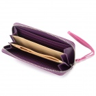 Women's Fashionable Zipper Long Style Purse - Purple