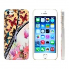 Zipper Butterfly Design Pattern Plastic Case for IPHONE 5 / 5S - Black + White