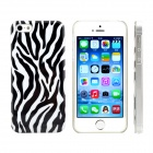 Zebra-stripe Design Pattern Print Plastic Case for IPHONE 5 / 5S - Black + White
