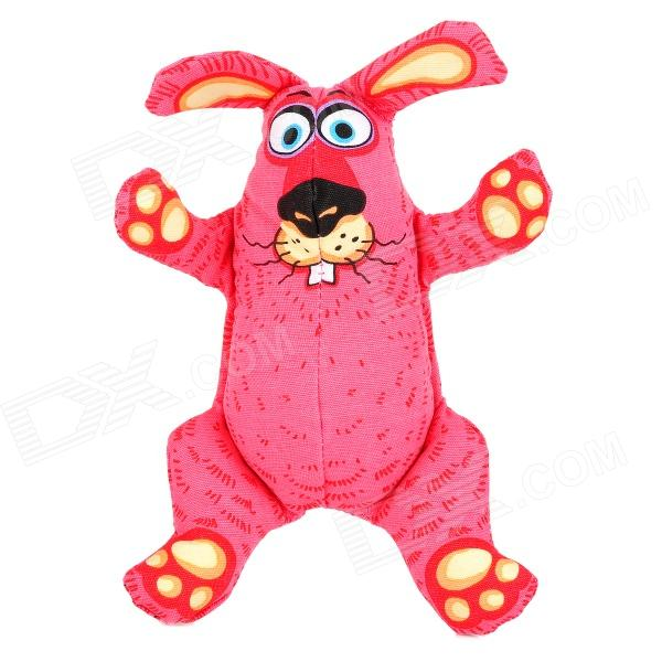 buck-teeth-rabbit-canvas-squeak-toy-for-pet-dog-cat-pink-beige-black