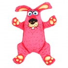 Buck Teeth Rabbit Canvas Squeak Toy for Pet Dog / Cat - Pink + Beige + Black